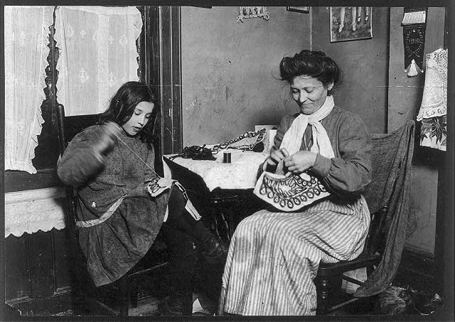 Making Embroidery, 1910 Lewis Hine