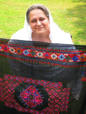 Ahmed Zeb with Swati embroidery