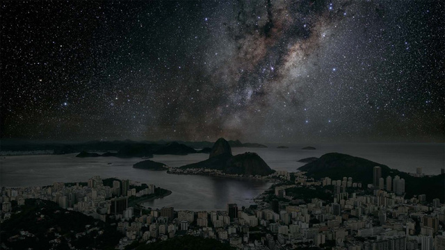 City skies without light pollution