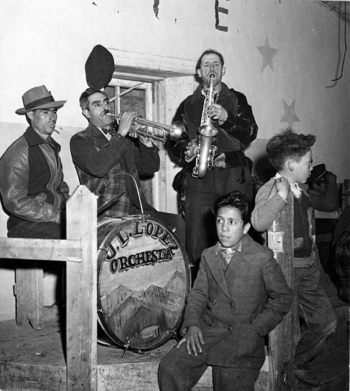 J. L. Lopez Orchestra at a dance, Peñasco, New Mexico, 1943