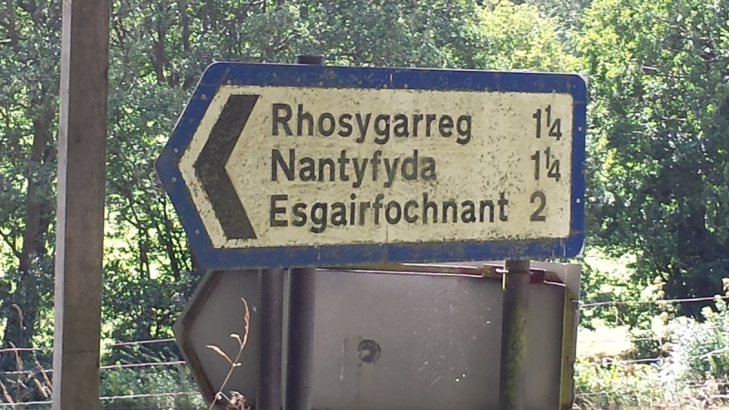 Sign with Welsh placenames