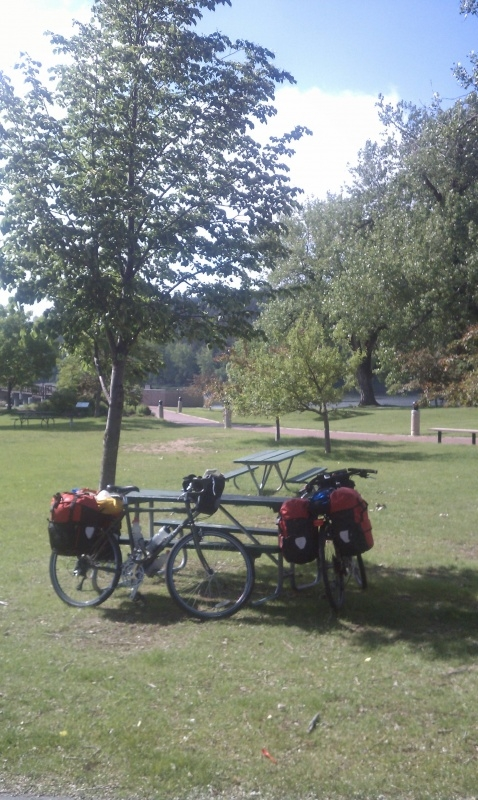 Bikes in a park in Rapid City